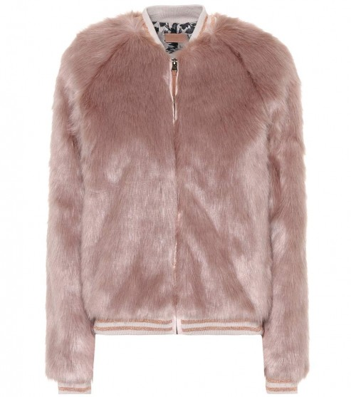 MOTHER The Letterman faux fur jacket | fluffy luxe bomber jackets