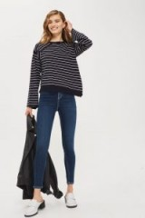 Topshop MOTO Contrast Stitch Jamie Jeans   skinny   indigo denim