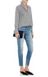 Moussy Velma Distressed Skinny Jeans   blue denim skinnies   Kourtney Kardashian style
