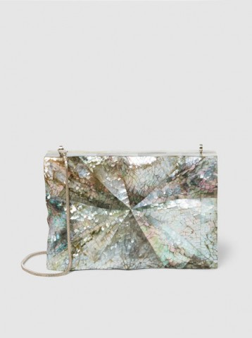NATHALIE TRAD‎ Dino Clutch ~ iridescent shell evening bags