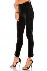 NBD X REVOLVE TIA PANT   side lace up velvet skinny trousers