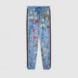 GUCCI New Flora print jogging pant | blue floral joggers