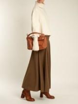 JOSEPH Nikel mid-rise wool midi skirt ~ khaki-brown skirts ~ winter tones