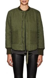 NSF Clementine Quilted Twill Bomber Jacket | olive-green jackets