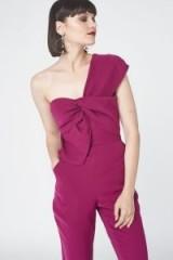 Lavish Alice One Shoulder Twisted Detail Jumpsuit / jewel tone jumpsuits