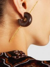 PALMER//HARDING‎ Amanda Rosewood 18-Karat Gold Plated Earrings ~ statement jewellery