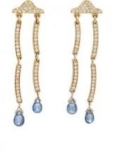 PAMELA LOVE FINE JEWELRY Rain Cloud Ear Jackets – diamond and sapphire drop earrings – stunning jewellery