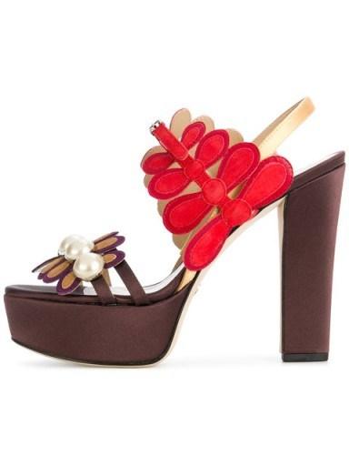 PAULA CADEMARTORI Rosaline platform sandals / yummy floral platforms - flipped