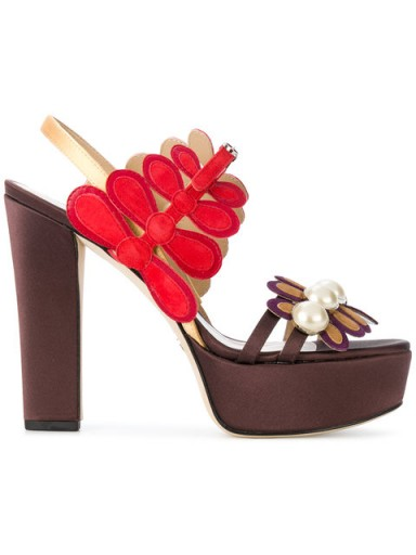 PAULA CADEMARTORI Rosaline platform sandals / yummy floral platforms