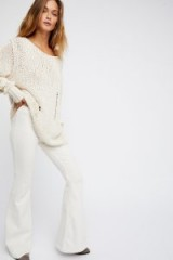 Free People Penny Pull-On Flare   white jeans   denim flares