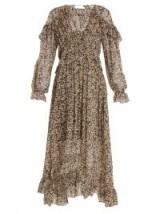 ZIMMERMANN Prima Cherry silk-georgette dress ~ long ruffle trimmed dresses ~ boho chic