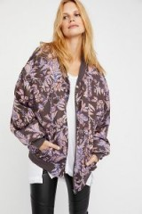 Free People Printed Silken Pillow Bomber | silky relaxed fit jackets