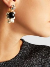 ‎RACHEL COMEY‎ Mira Crystal And Pearl Earrings ~ statement jewellery