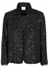 VELVET BY GRAHAM & SPENCER Razi black sequinned jacket ~ shimmering jackets ~ glamour