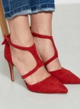 MINT VELVET RED LEONI T-BAR HIGH HEEL / hot heels