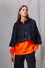 Topshop Rinse Denim Wide Jacket by Boutique