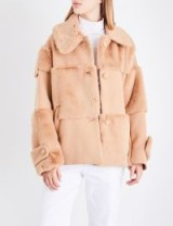 ROCKET X LUNCH Panelled wool-blend and faux-fur coat / camel winter coats