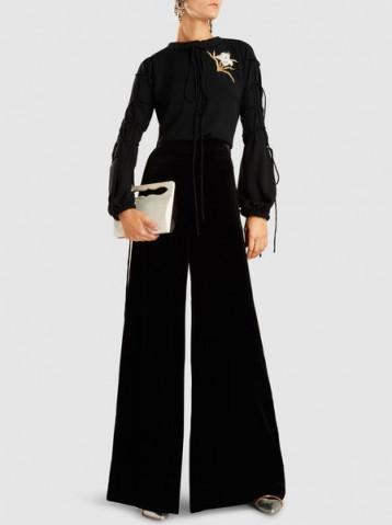 ROLAND MOURET Uppingham Velvet Wide-Leg Trousers
