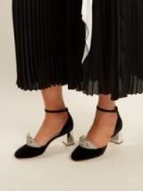 SOPHIA WEBSTER Royalty embellished tiara-front velvet pumps ~ beautiful evening shoes