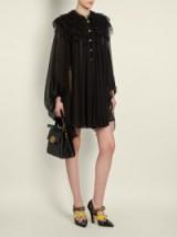 DOLCE & GABBANA Ruffled-lace chiffon dress ~ lbd ~ beautiful Italian fashion