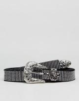 Sacred Hawk Double Wrap Studded Western Belt / stud embellished cowgirl belts