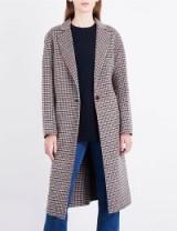SANDRO Check single-breasted wool coat / checked coats