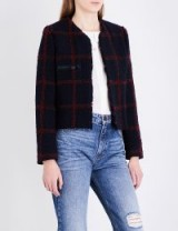 SANDRO Checked tweed blazer / check jackets