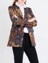 SANDRO Floral brocade blazer