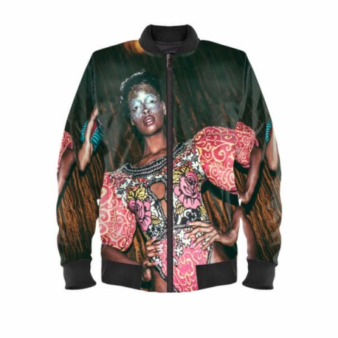 B.K.A.A Satin Bomber Jacket | printed jackets