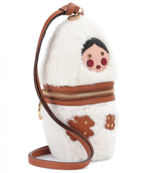 NEW ARRIVAL SEE BY CHLOÉ Russian doll leather-trimmed fur shoulder bag