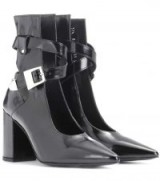 SELF-PORTRAIT Kult glossed-leather ankle boots / glossy open front boots