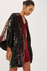 Topshop Sequin Embellished Kimono Throw ~ luxe style kimonos ~ instant glamour