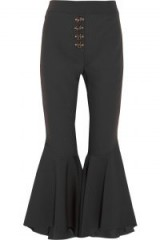 ELLERY Sin City crepe flared pants | black kick flare trousers