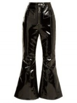 ELLERY Sipsi kick-flare cropped patent trousers | high shine flared pants