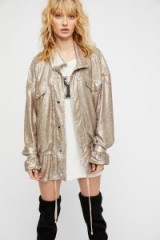 Free People Slouchy Sequin Jacket | champagne sequinned jackets