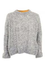 Topshop Soft Neppy Jumper | grey boxy jumpers