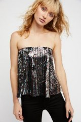 Free People Bright Tube Top | sequin rainbow stripe strapless tops
