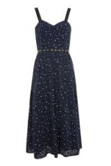 Topshop Star Bustier Midi Dress