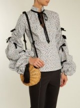 CAROLINE CONSTAS Stella floral-print stretch-cotton blouse