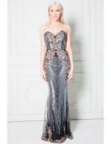 Stephanie Pratt Sweetheart Neckline Sequin Embroidered Maxi Dress – black strapless sequinned evening dresses – glamorous occasion wear
