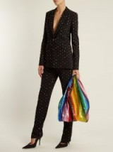 ASHISH Striped sequin-embellished bag ~ rainbow bags