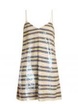 ASHISH Striped sequin-embellished mini dress ~ sequined dresses