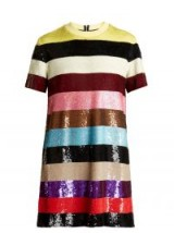ASHISH Striped sequin-embellished mini dress ~ stripes & sequins