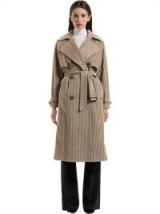 TAGLIATORE 0205 COTTON CORDUROY TRENCH COAT – beige cord belted coats