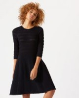 JIGSAW TEXTURE KNITTED DRESS ~ little black dress ~ lbd