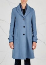 TRICOUNI Thistle water-resistant wool blend coat ~ blue winter coats