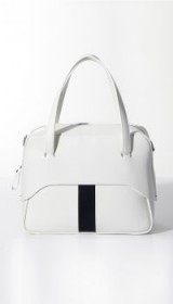 TIBI MIGNON BAG WITH REMOVABLE STRAP BY MYRIAM SCHAEFER | white leather mini handbags