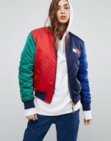Tommy Jeans 90s Capsule Reversible Flag Print Bomber – casual designer jackets