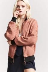FOREVER 21 Tonal Stitch Baroque Bomber Jacket | blush jackets