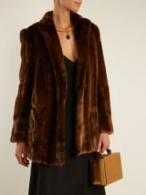 BLAZÉ MILANO Toytown Everyday faux-fur jacket ~ chocolate-brown jackets ~ luxe vintage style outerwear